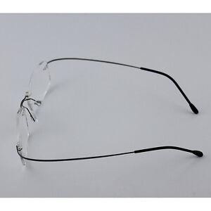 2c2109f399 Image is loading Rimless-Glasses-Rx-Optical-Eyeglasses-Memory-Titanium- Spectacles-