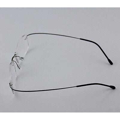 c3ca67239fc0 Details about Rimless Glasses Rx Optical Eyeglasses Memory Titanium  Spectacles Frame<