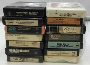 Lot of 14 Soul A Track Tapes- Aretha Franklin, George Benson, and more