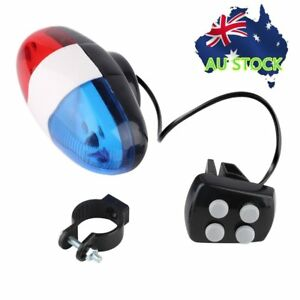 Bike-Bicycle-Cycling-4-Sounds-LED-Police-Car-Siren-Electric-Light-Horn-Bell-Y1