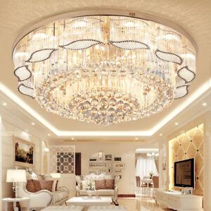 Fernbedienung-LED-Kristall-Haengeleuchte-Pendelleuchte-Deckenleuchte-Kronleuchter