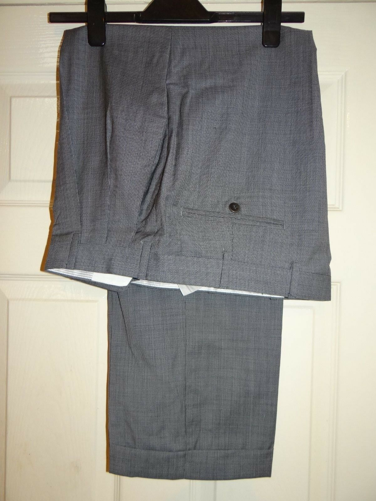 ZANELLA @ NORDSTROM -USA FAB ELEGANT TAILORED GREY TROUSERS W36 28