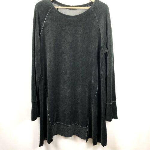 Cut Loose Tunic Dress XL Velvet Overcast Black Lag
