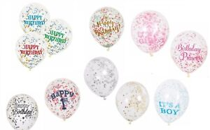 6-Clear-Confetti-12-034-Balloons-Birthday-Party-Wedding-Decorations-Gold-Pink-Blue