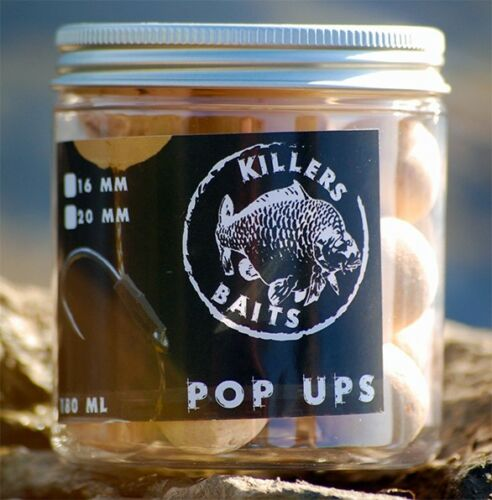 16mm // 20mm 7,95€//100g Carp Killers Pop Up Boilies White Indian 100g
