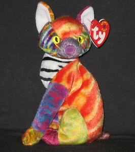 749a9b111ca Image is loading TY-KALEIDOSCOPE-the-CAT-BEANIE-BABY-MINT-with-