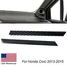 Carbon Fiber Window Pillow Strip Trim Cover For Honda Civic Coupe 2013 2015 Fits 2013 Honda Civic Si