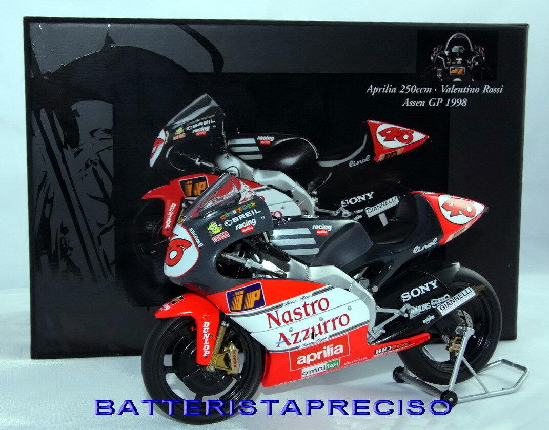 MINICHAMPS VALENTINO ROSSI 1 12 APRILIA 250 WINNER GP ASSEN 1998 122980046