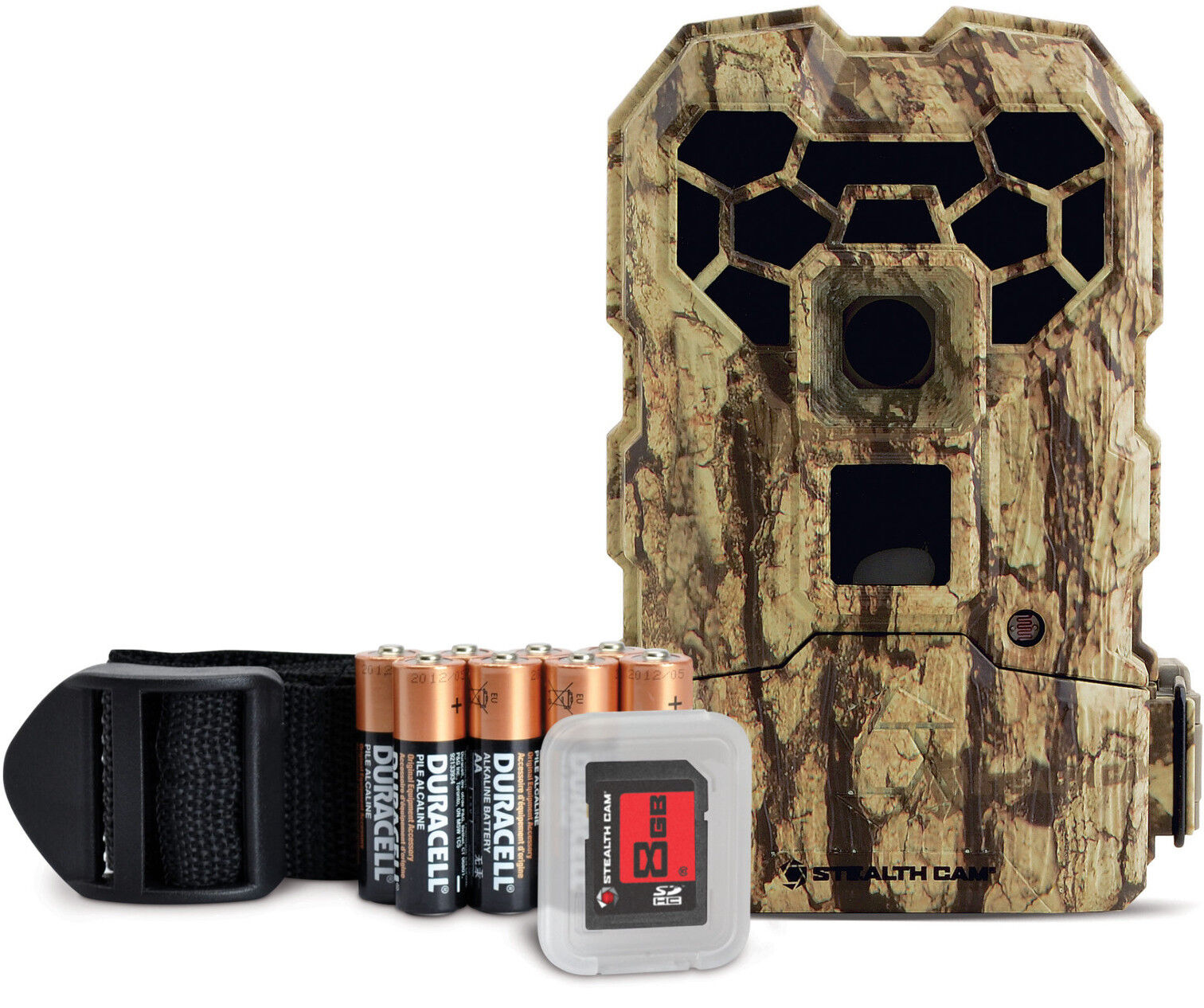 Stealth Cam QS24NGK 12MP 24IR No Glo FX Shield Cam, 8GB SD Scouting Camera