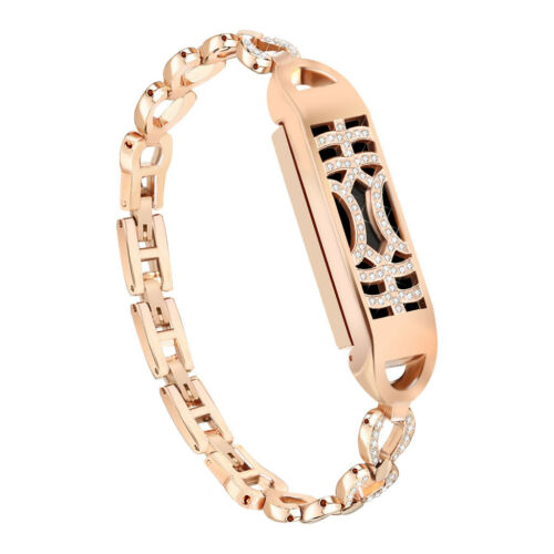 For Fitbit Flex 2!Replacement L//S Diamond Wrist Band Bangle Strap+Metal Cover