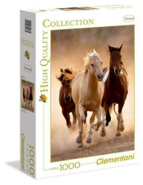 Clementoni RUNNING White HORSES