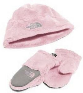 29f04dd2f Details about North Face BABY OSO CUTE COLLECTION Coy Pink Girl XS 6-24mths  NWT Mitten Hat Set