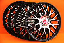 "14"" Fiat Punto ,500 ,etc... Wheel Trims / Covers, Hub Caps,Quantity 4,black&silv"