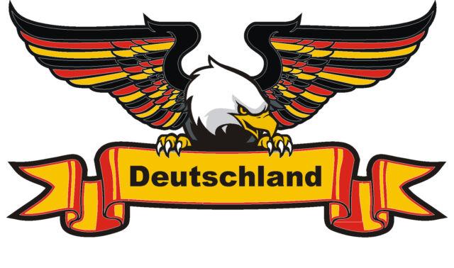 27,5 x 15  cm PREMIUM Aufkleber Deutschland Adler Landesfarben  Autoaufkleber
