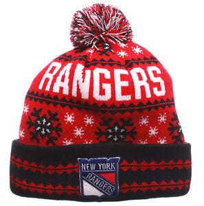 NEW-YORK-RANGERS-NHL-VINTAGE-SNOWFLAKE-KNIT-BEANIE-POM-Z-WINTER-CAP-HAT-NWT