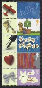 Grande-Bretagne-2002-Voeux-Timbres-Occasions-Ensemble-De-5-non-Montes-Mint-MNH