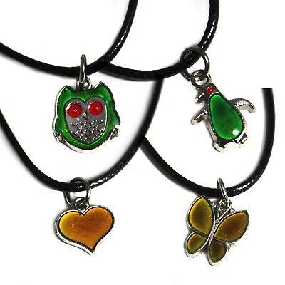 5 Stück Schmetterling geformt Stimmung Pedant Halskette Farbwechsel Schmuck