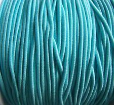 5m X 1mm Aqua Azul cubierto con Cuentas Cuerda Elástica Ideal Para Madera y granos de poni niños