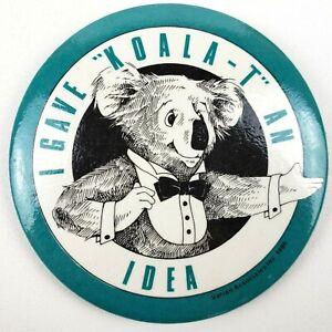 Vintage-1986-I-gave-Koala-an-Idea-Varian-Associations-Inc-Pinback-Button