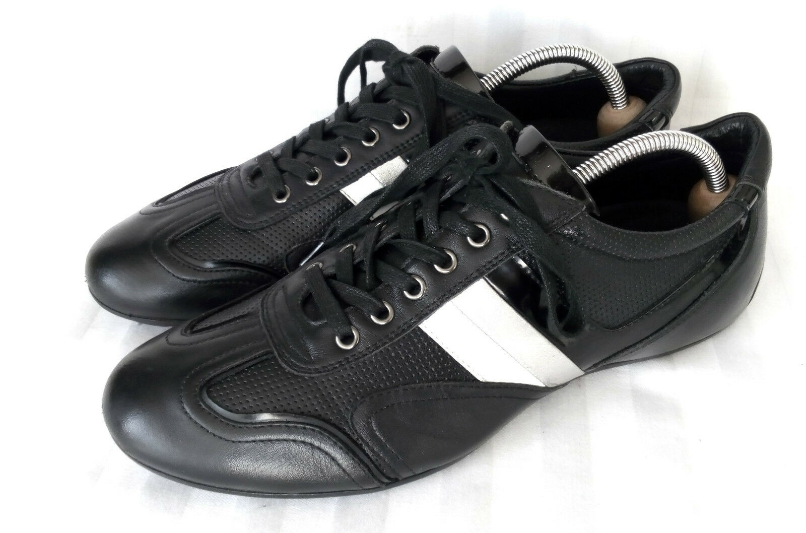 Bata Casual Herrenschuhe Sneaker Schwarz Leder Gr. (42) 43 NEUWERTIG