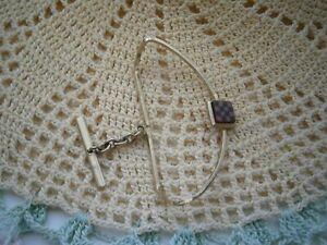 Genuine-Vintage-Gentleman-039-s-Gold-tone-Tie-tack