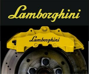 Lamborghini Gallardo Aventador Compatible Vinyl Brake Caliper Decals