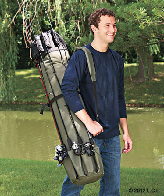 Portable Fishing Rod Carrier IN STOCK Holder Pole Rack Storage Organizer Case