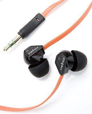 Veho 360 Z-1 Flex Stereo Noise Isolating Earphones Stereo Headphones - Orange