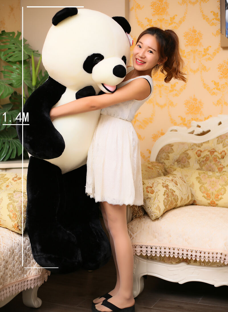 55'' Giant huge big panda teddy bear plush soft toys panda doll Xmas gift 140cm