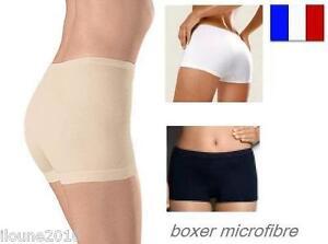boxer femme sans couture microfibre doux confortable culotte slip shorty calecon ebay. Black Bedroom Furniture Sets. Home Design Ideas