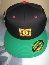 NEW DC SHOES SKATE BALL Cap HAT Flexfit Men's S M Basebro Rasta