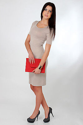 Chic & Elegant Classic Dress Scoop Neck Pencil Party Formal Size 8-16 FA121