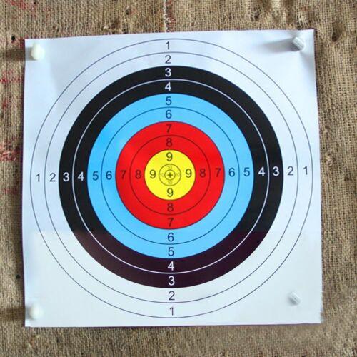 10X Archery Target Faces Suitable For Bows /& Crossbows Heavy Gauge 40*40cm