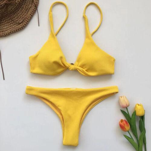 Damen Push Up Bikini Set BH Gepolsterte Paddend Badeanzug Brazilian Bademode Neu