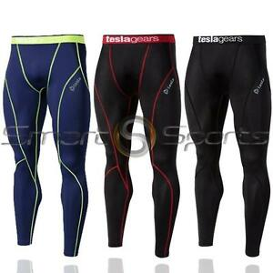 New-Mens-Tesla-Baselayer-Long-Pants-Armour-Compression-Tights-Trousers-Apparel