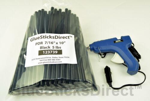 """5 lbs Black PDR 7//16/"""" x 10/"""" Glue Sticks /& GSDH-270 12Volt 40W HT Glue Gun"""