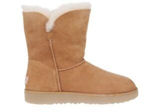 f5804b99160 Details zu Damen Boots UGG UGG Classic Cuff Short Chestnut 1016418-CHE