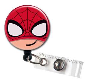 Name Badge Holder Spider Man Badge Reel Name Tag, Retractable ID Badge Holder