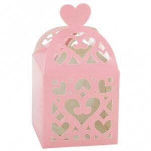 20-c-ur-lanterne-rose-bebe-faveur-Laser-Cut-Out-boites-BOX-Party-Cadeau-GRATUIT-PP-UK