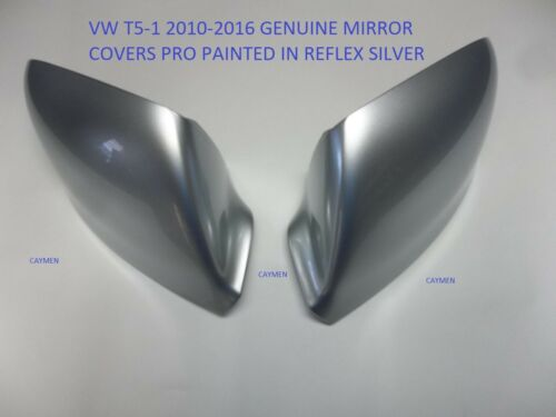 VW Transporter T5-1 Original Seitenspiegel Abdeckung Pair Lackiert Reflex Silber