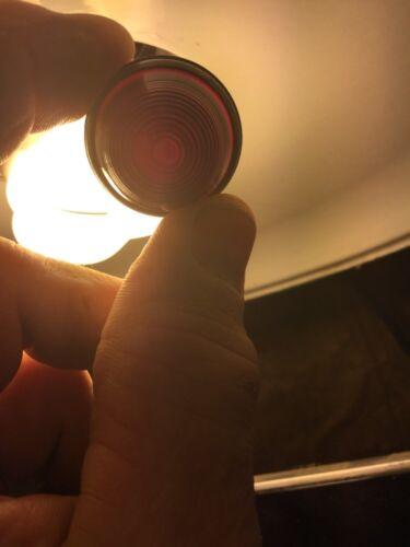 OLD VINTAGE DASH PANEL INSTRUMENT GAUGE RUBY RED BEEHIVE LIGHT RAT ROD SCTA