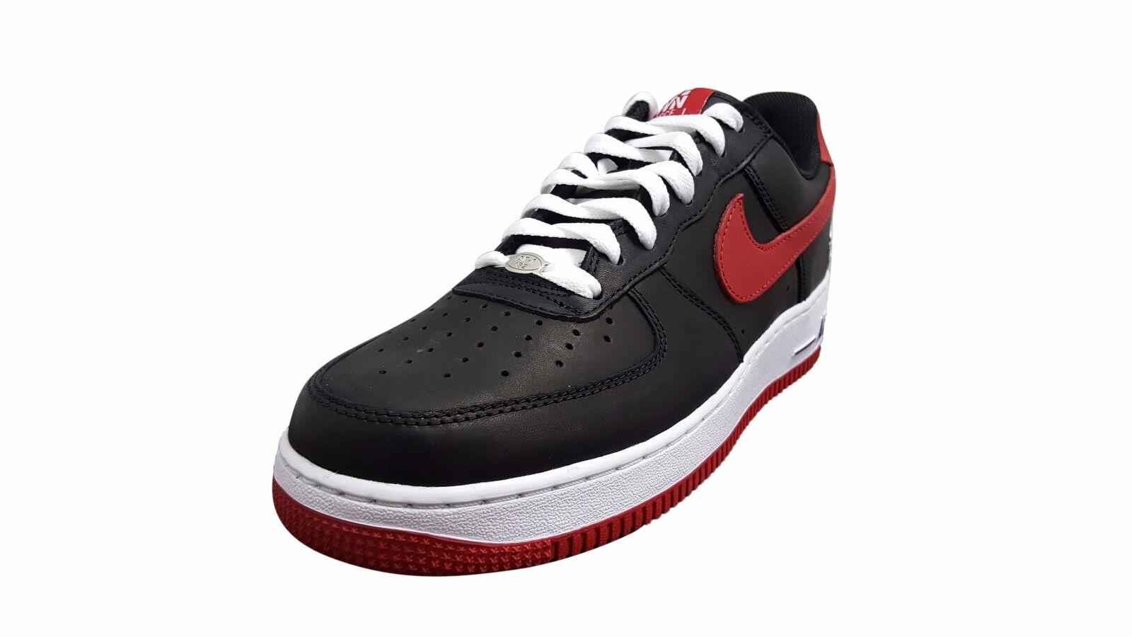 Nike Air Force 1 Low Retro Black/Varsity Red-White (845053 001)