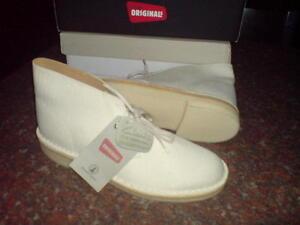 Beige Mens Clarks Uk Cream 5 F Unisex Cream Originals Boots Desert Fabric agxBva