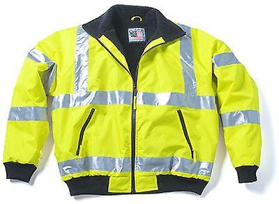 High Viz Three Season Jacket Fleece Lining Snap-N-Wear ANSI Class 3 Compliant XL