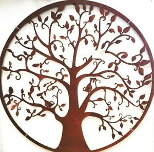 Genial Details About Wonderful Round Steel Metal Garden Wall Art Tree Design  Screen 1m Dia Circular