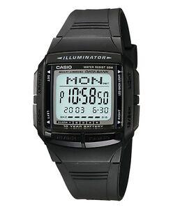 Casio-Classic-Watch-DB36-1AV-Illuminator-Databank-Black-COD-PayPal