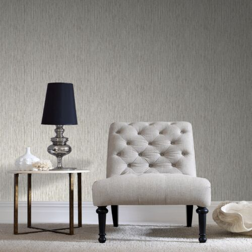 Boutique Grasscloth Textured Plain Cream Luxury Wallpaper