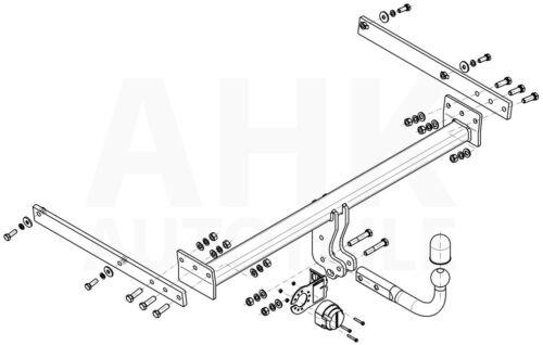 Für Ford Kuga MK I 08-12 Anhängerkupplung starr+E-Satz 13p spez