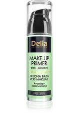 Delia MAKE-UP PRIMER Green Correcting REDUCES REDNESS MATTIFIES + Caffeine 35ml