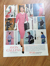1961 Avon Cosmetics Ad  Avon Calling for 75 years History in Pictures 1886 -1956